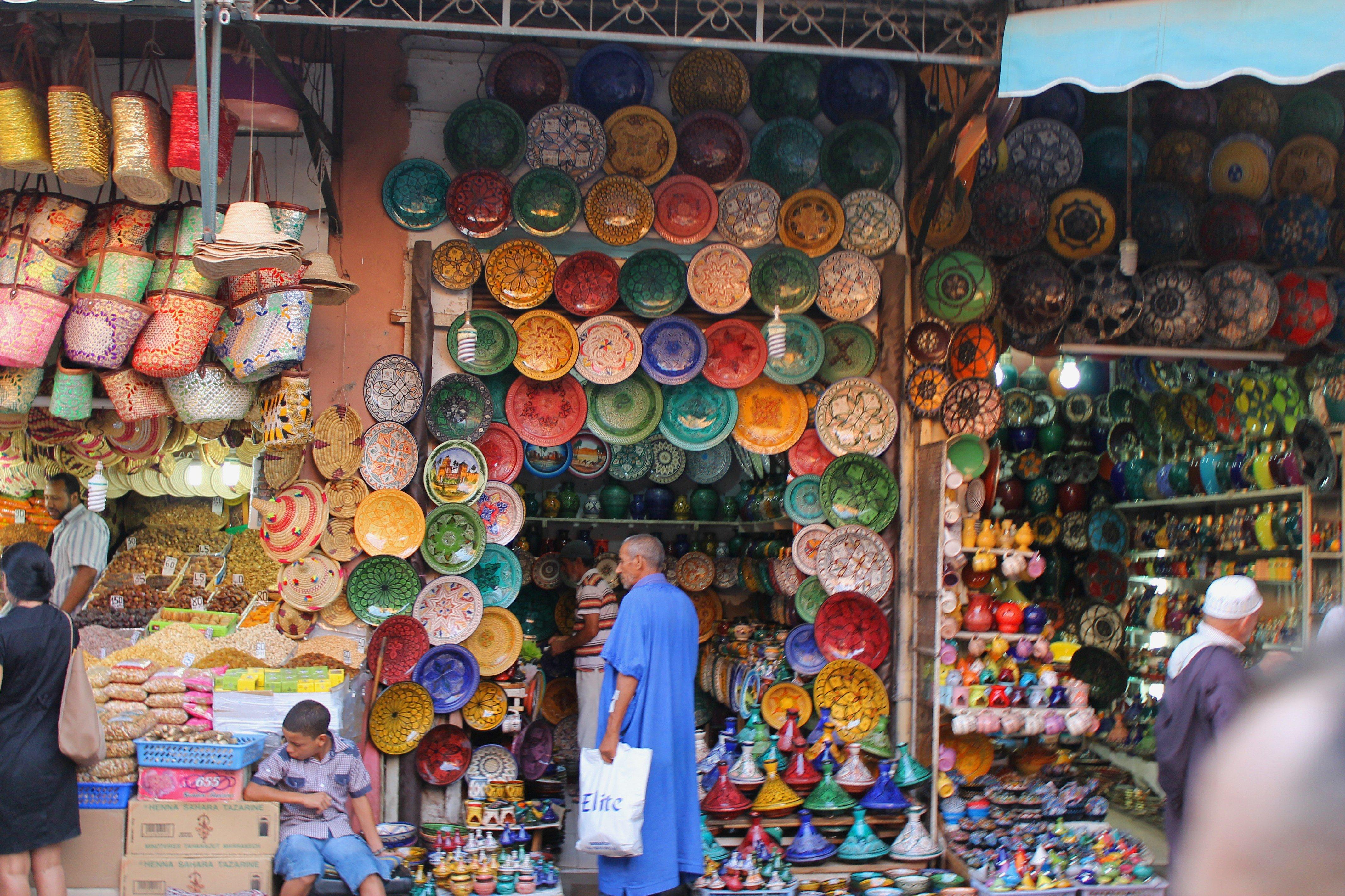 De Compras Por La Ciudad De Marrakech